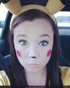 easy Pikachu halloween makeup