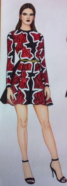 Fashion illustration by Trudi Fraser