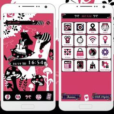 [FREE] A sleek Theme with characters from Alice in Wonderland! http://app.android.atm-plushome.com/app.php/app/themeDetail?material_id=1040&rf=pinterest #plushome #kawaii #girl #alice