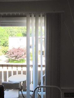 Sew Many Ways...: Hiding Rental Apartment Vertical Blinds...