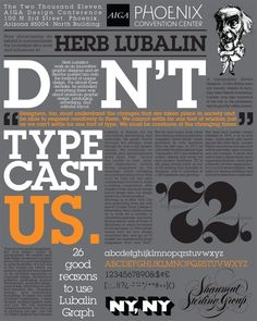 Hierarchy, color palette, and typography. Typographic Hierarchy, Typographic Poster, Typography Fonts, Typography Design, Type Design, Print Design, Graphic Design, Herb Lubalin, Type Posters