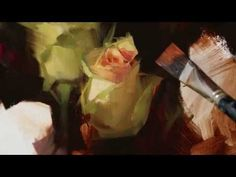 ▶ Alla Prima Rose Painting Demonstration - YouTube