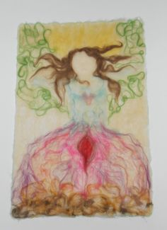 Woman - elements within Loving my 1st needle felted picture.... Every woman has a great power within herself...live your deepest purpose, live with passion and dream, dream, dream :-)