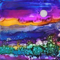 Alcohol Ink Art - Dreamscape No. 188 by June Rollins