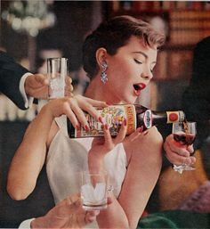 """1959 MARTINI & ROSSI vintage print advertisement """"a delightful Continental Custom"""" ~ Suddenly a delightful Continental Custom is sweeping America! Martini & Rossi Imported Vermouth Sweet Or Extra Dry ~ Don Draper, Vintage Advertisements, Vintage Ads, Vintage Style, Vintage Fashion, Retro Ads, Vintage Vibes, Estilo Jackie Kennedy, Frieze Magazine"""