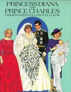 Princess Diana and Prince Charles Paper Doll Book 1985 Uncut 16 pgs Tierney Princess Diana Beanie Baby, Prince And Princess, Baby Princess, Paper Dolls Book, Vintage Paper Dolls, Charles And Diana, Prince Charles, Authentic Costumes, Diana Fashion