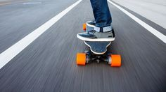 Boosted Electric Skateboard Electric skateboard with two powerful motors, brakes, rechargeable battery, and wireless controller. Average range is 7 miles. Top speed is 22 mph. Your hoverboard has finally arrived. #skateboard
