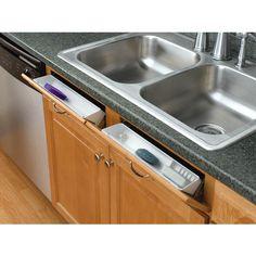 Tip out storage under kitchen sink.