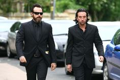 Stephen & Spencer Gibb at Spencer's father, Robin Gibb's funeral. Very sad day!