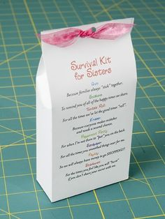 a great idea for a special sister