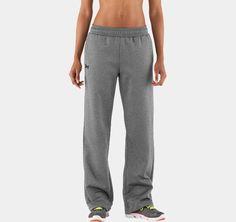 """Women's Armour® Fleece Team Pants. $50. Reviews say they're """"long"""" and they look soooo comfy!"""