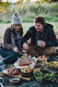 Autumn picnic, wrapped up and cosy