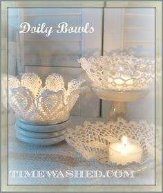 TIMEWASHED: Lacy Bowls~~White Wednesday