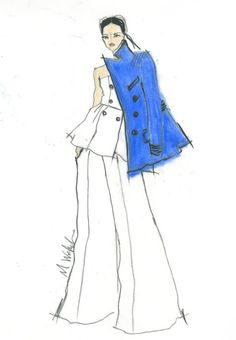 Marissa Webb plus 32 other designer sketches from NYFW fall/winter 2015.