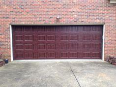 Dark Wood Grain Carriage House Garage Door