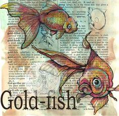 flying shoes art studio: GOLD-FISH
