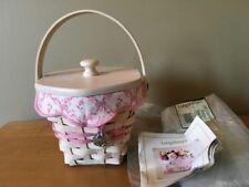 Longaberger 2004 Horizon of Hope Basket Pink Hope Liner #2817085 NEW