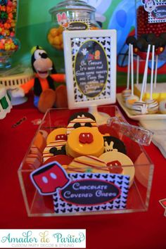 Decorated cookies at a Mickey Mouse Clubhouse birthday party! See more party ideas at CatchMyParty.com!