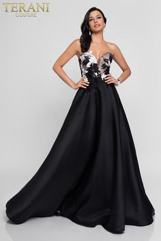 79ce046b81c1 Terani Prom Formal Dress Stores, Ball Skirt, Terani Couture, Black Prom  Dresses,
