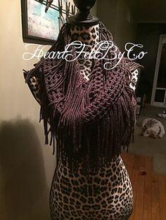 Crochet Infinity Fringe Scarf Free Pattern by Jess Gibson