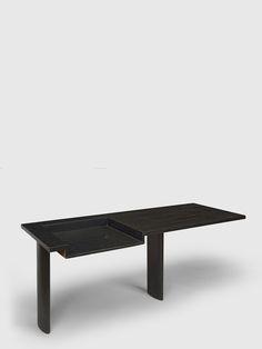 Le Corbusier & Pierre Jeanneret desk in black-stained solid teak.