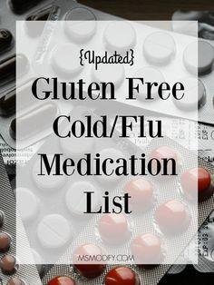 updated gluten free cold/flu medication list