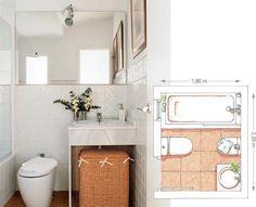 Planifica la distribución de tu baño