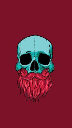 Skull with Beard Street Art Love, Kunst Tattoos, Art Tattoos, Beard Art, Skull Illustration, Skull Wallpaper, Joker Art, Skull Art, Skull Logo