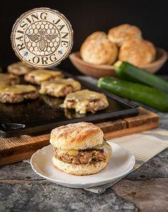 Sausage, Zucchini & Hash Brown Sandwiches: Prep Time: 15 Minutes  Cook Time: 15 Minutes  Makes: 8 Sandwiches