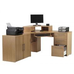 Oakwood Corner Desktop Hutch In Oak By Alphason Desk Finished An Veneer