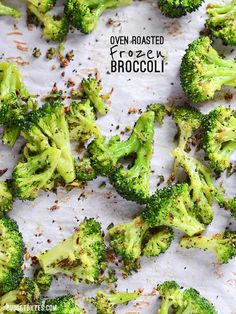 Roasting broccoli is made faster and easier with the use of pre-cut frozen broccoli florets. Oven Roasted Frozen Broccoli is an easy side dish for any meal! - BudgetBytes.com