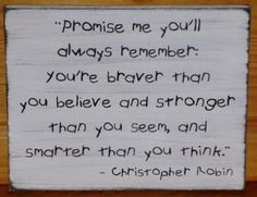 primitive Winnie the Pooh Sign Promise Me Christopher Robin Nursery Baby Shower Gift Baptism Children's Room Whimsical fairy tale Disney Wood Wooden Plaques - Vintage Quotes Christopher Robin, Great Quotes, Quotes To Live By, Inspirational Quotes, Baby Shower Quotes, Baby Shower Gifts, Boy Quotes, Life Quotes, Winnie The Pooh