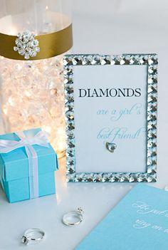 He Put a Ring on It. Bling-themed bridal shower printables. #DavidTuteraDIY