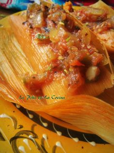 Pibil Pork Tamales With A Chile Infused Masa (1) From: Piña en la Cocina, please visit