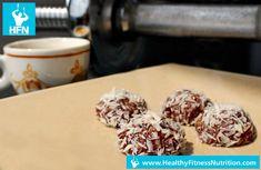 Einfaches Protein Pralinen Rezept mit Schoko - Kokos Geschmack. Probiere unsere Low-Carb Fitness Rezepte aus!