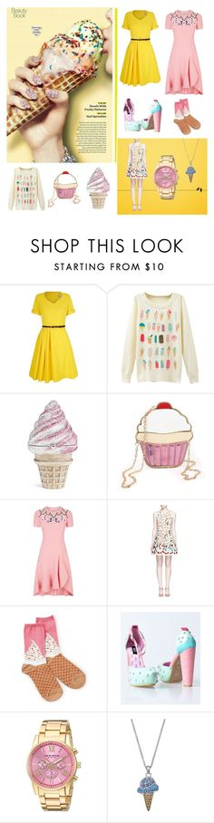 """ice cream treats"" by beanpod ❤ liked on Polyvore featuring Yumi, Judith Leiber, Peter Pilotto, Alice + Olivia, Socksmith Design, Akribos XXIV and Silver Luxuries"