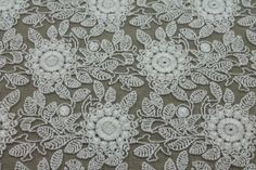 Floral Embroidered Tulle - Ivory