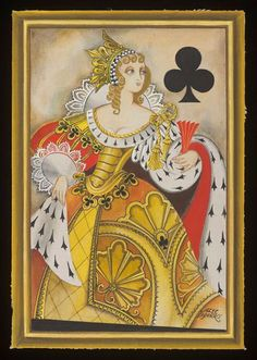 Costume design for the Queen of Clubs; by Alec Shanks