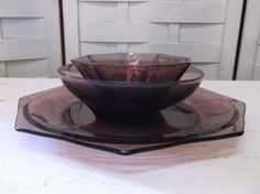 Hey, I found this really awesome Etsy listing at http://www.etsy.com/listing/153276825/purple-glass-dish-set