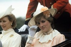 June 17, 1981: Lady Diana Spencer with Princess Alexandra of Kent at Royal Ascot.