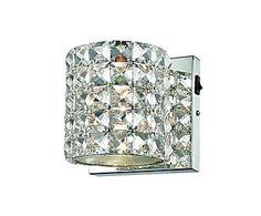 Brand Sorpetaler - Wandlamp Brillanza, chroom/kristal, B 16 cm