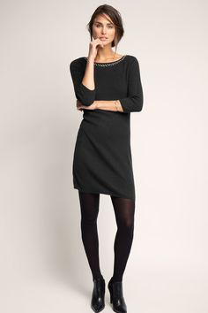 Esprit - Glamour Feinstrick-Kleid mit Kaschmir im Online Shop kaufen
