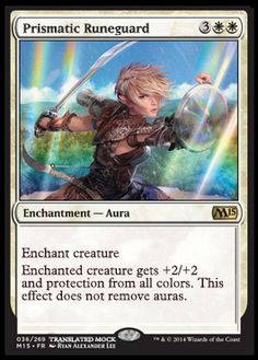 New Aura that could potentially be a big player in the new standard format from the Magic 2015 set #m15