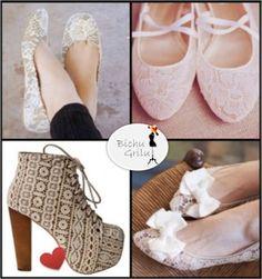 Rendas nas sapatilhas