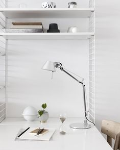 A styling from a little while ago with the @artemide_lighting Tolomeo micro task lamp