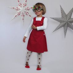 Check out this item in my Etsy shop https://www.etsy.com/uk/listing/568603003/red-pinafore-dress-christmas-dress