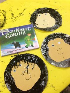 Preschool literacy craft goodnight gorilla zOo lesson