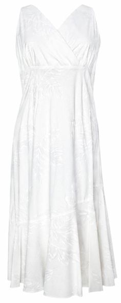 fb2f0d1bb9f3 Ulu Mat Tropical Tropical Print Sleeveless VNeck Dress White (Rayon), Womens  Tropical Hawaiian Dresses Shirts Clothing, TP-924R-UM-White