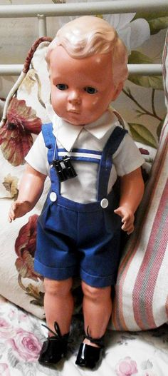 Antike Zelluloid Puppe Schildkroet Hans gemarkt Schildkröte