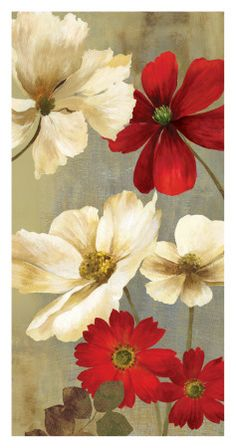 Flores rojas (arte decorativo) Posters en AllPosters.es                                                                                                                                                                                 Más